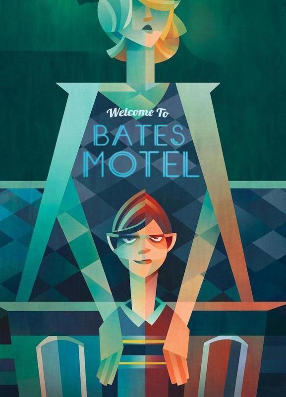 Bates Motel canvas doek