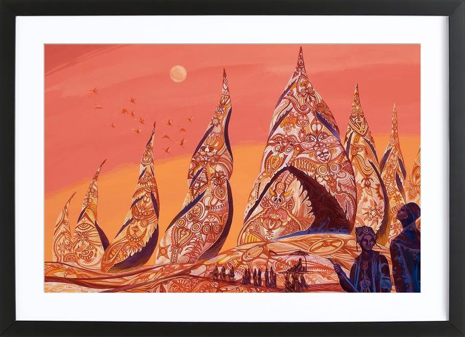Bedouin Towers Framed Print
