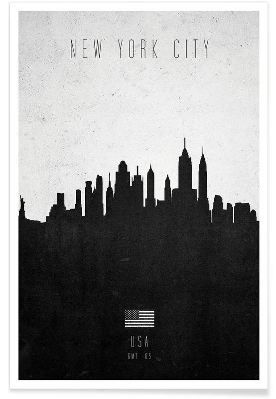 New York City Contemporary Cityscape -Poster