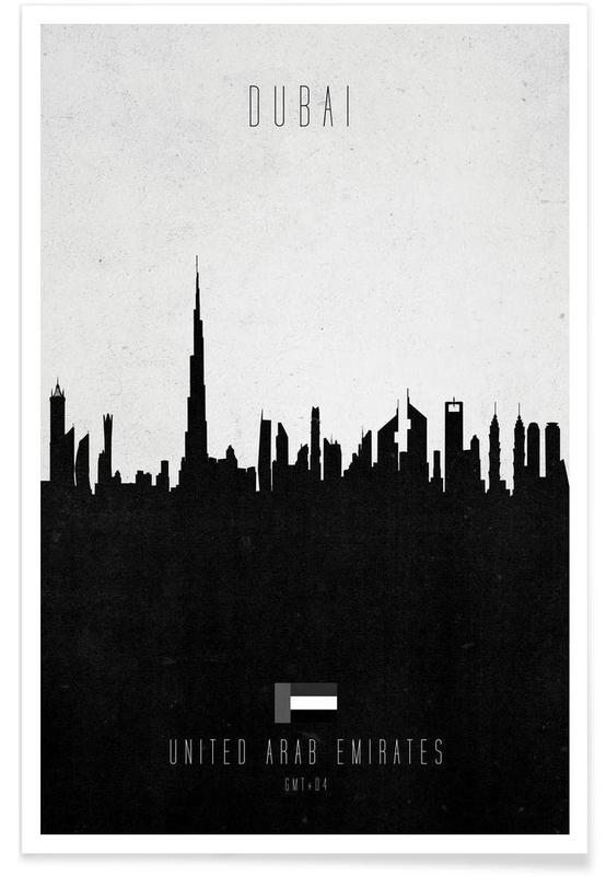 Dubai Contemporary Cityscape -Poster