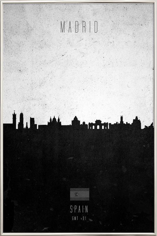 Madrid Contemporary Cityscape -Poster im Alurahmen