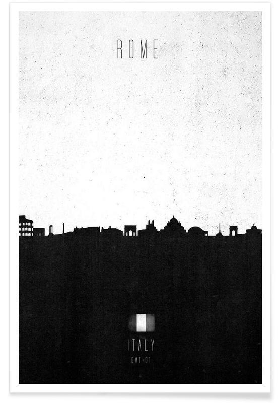 Rome Contemporary Cityscape poster