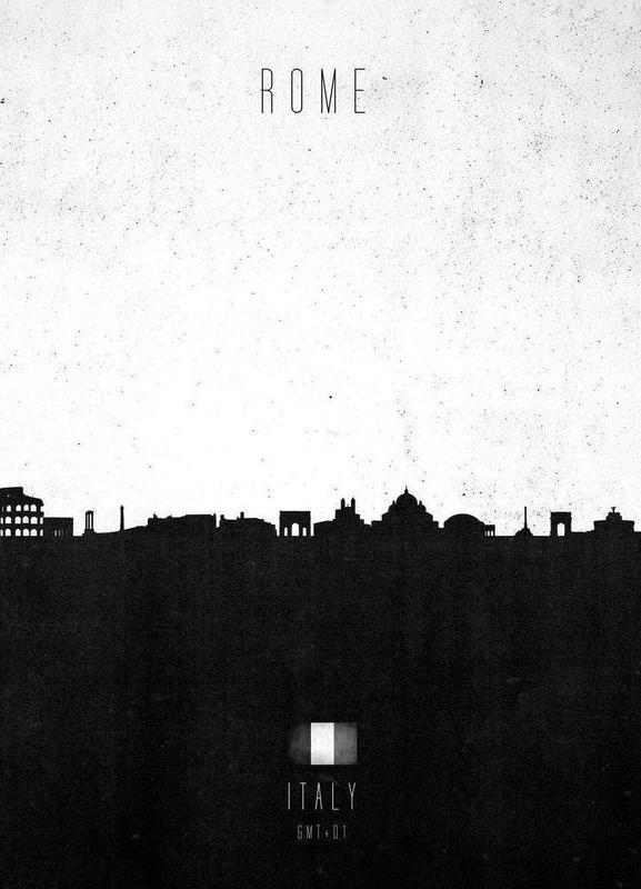 Rome Contemporary Cityscape toile