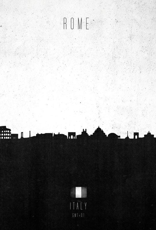 Rome Contemporary Cityscape Aluminium Print