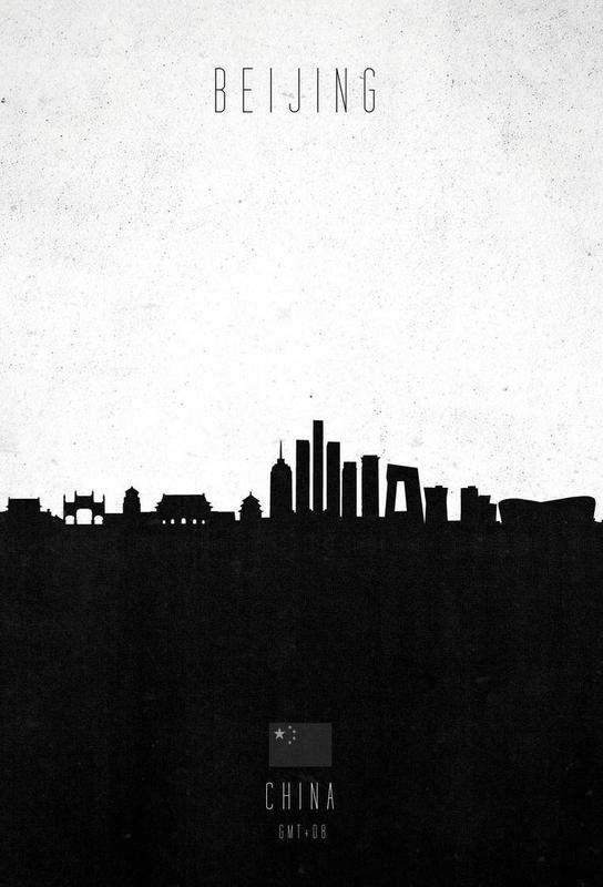 Beijing Contemporary Cityscape Aluminium Print