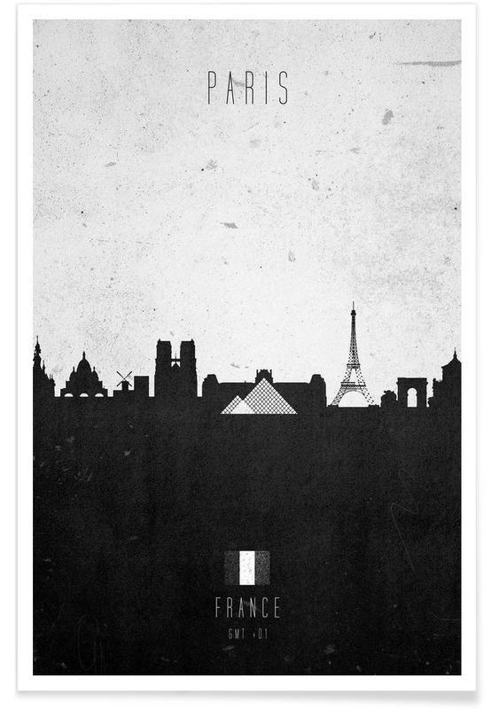 Paris Contemporary Cityscape Poster