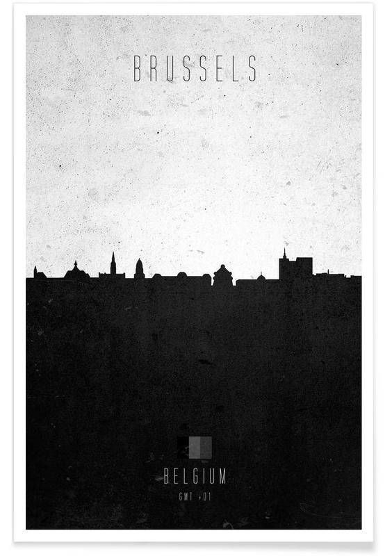 Brussels Contemporary Cityscape -Poster