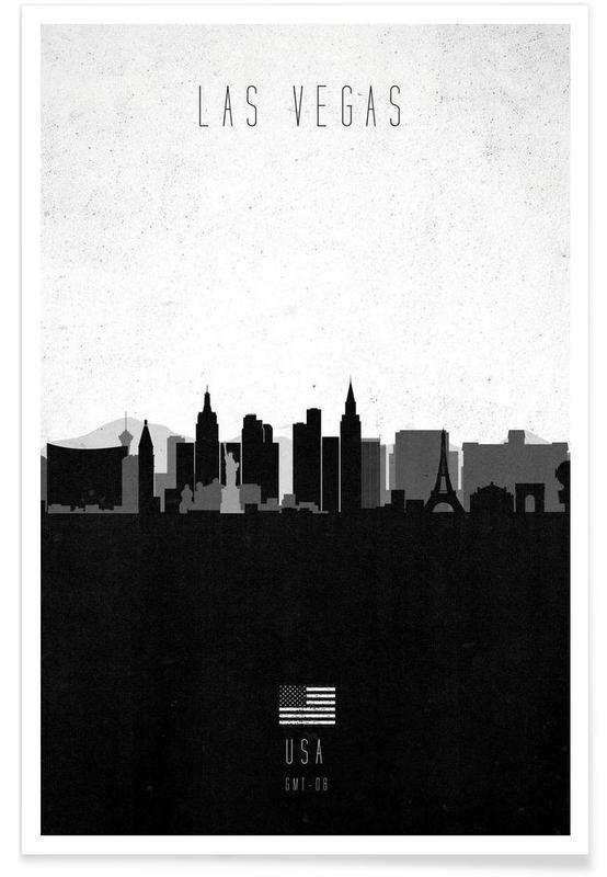 Las Vegas Contemporary Cityscape Poster