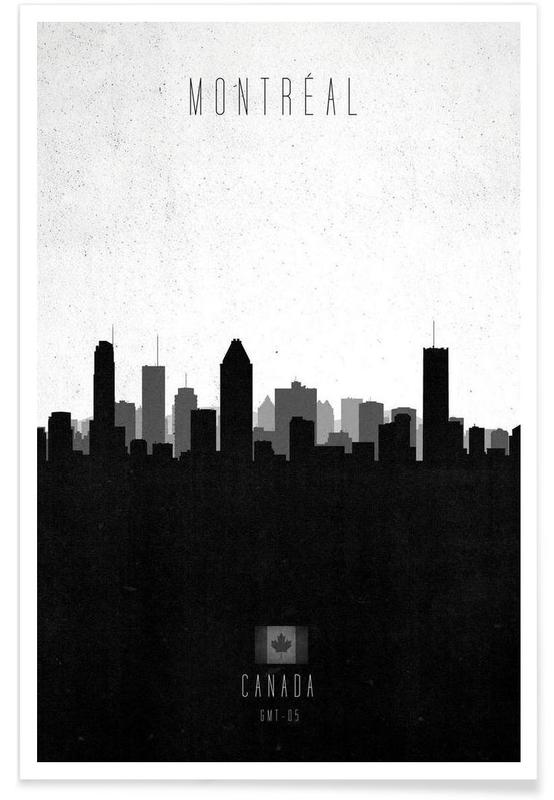 Montreal Contemporary Cityscape Poster