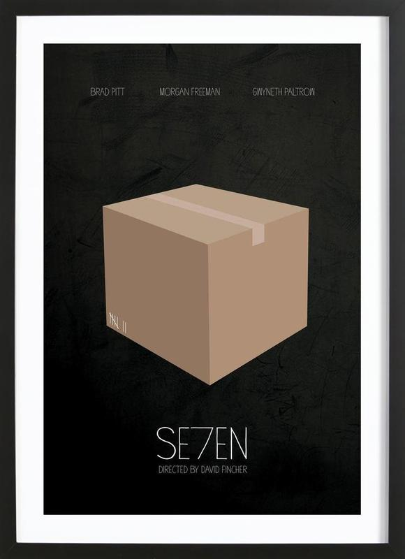 Se7en -Bild mit Holzrahmen