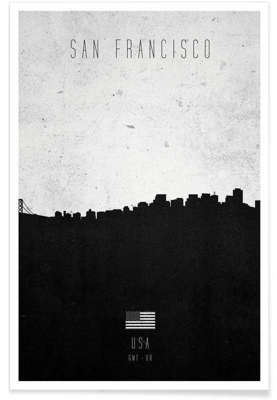 San Francisco Contemporary Cityscape Poster