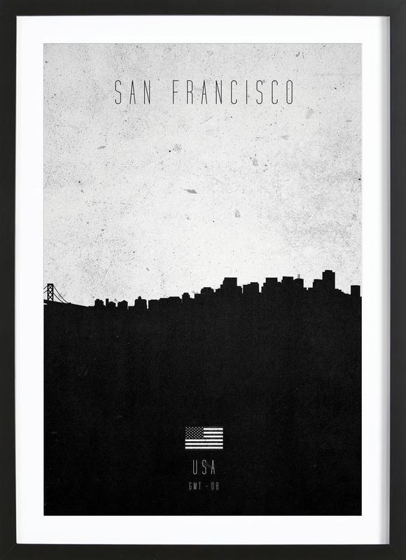 San Francisco Contemporary Cityscape Framed Print