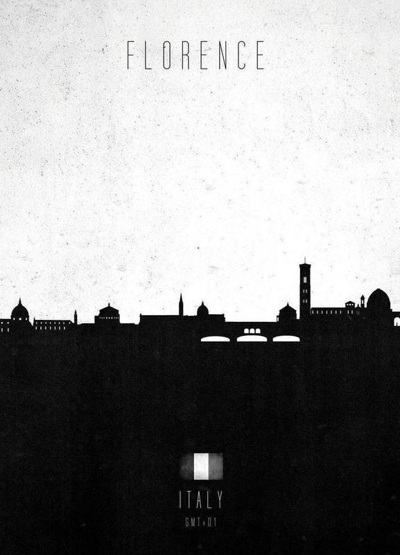 Florence Contemporary Cityscape Canvas Print