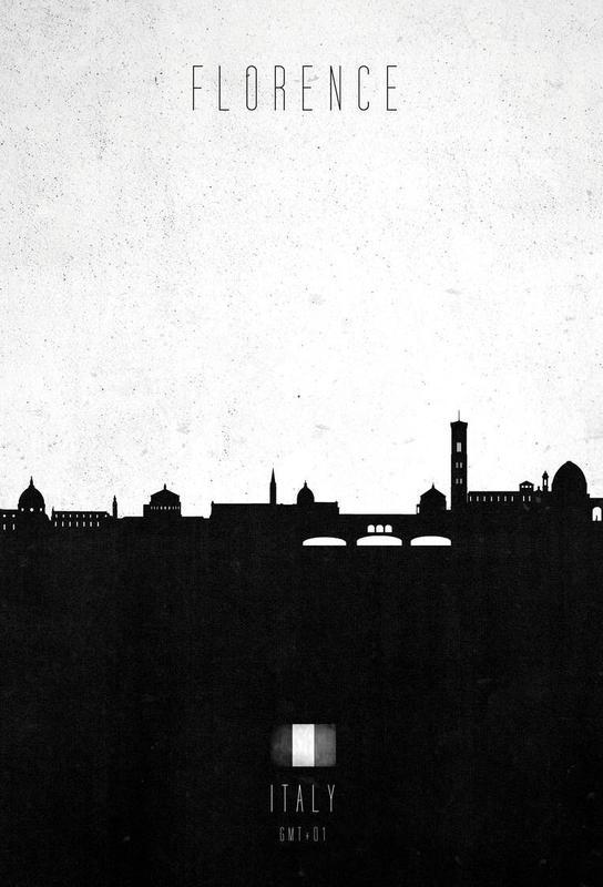 Florence Contemporary Cityscape -Alubild