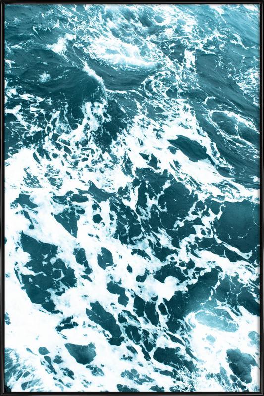 Ocean Blue affiche encadrée