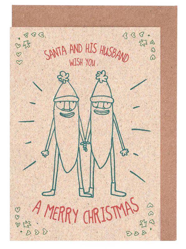 Santa & Husband Greeting Card Set