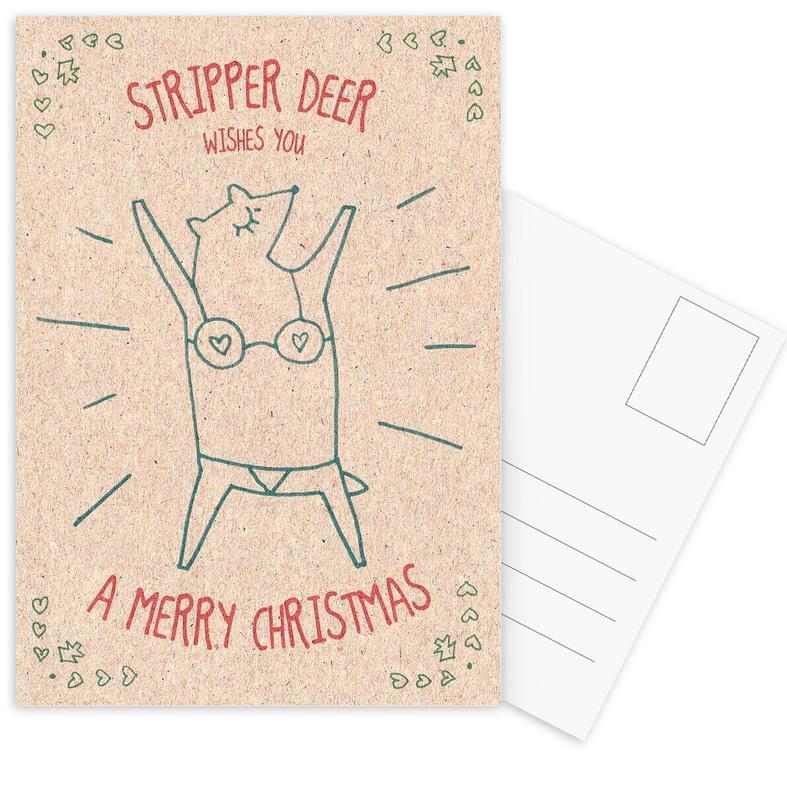 Stripper Deer Postcard Set