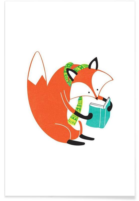 Reading Fox Poster