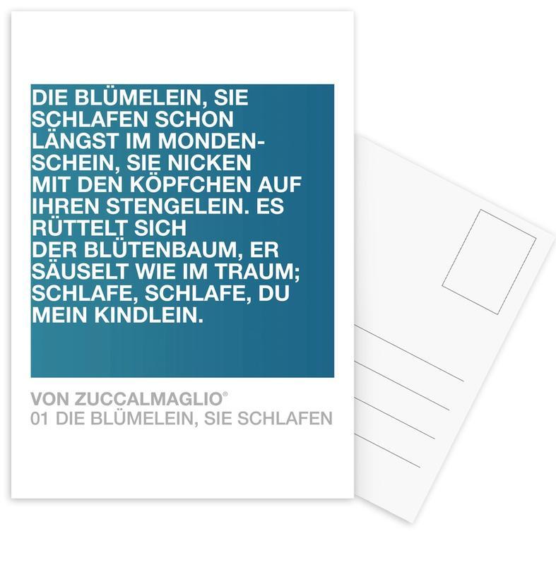 Die Blümelein Sie Schlafen 02 Postcard Set