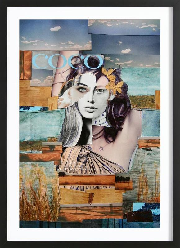 Coco de la Mancha -Bild mit Holzrahmen