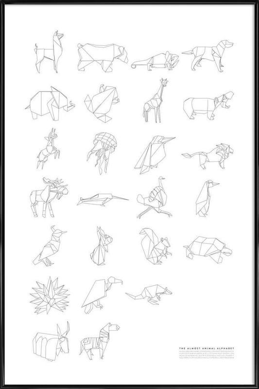 Almost Animal Alphabet -Bild mit Kunststoffrahmen