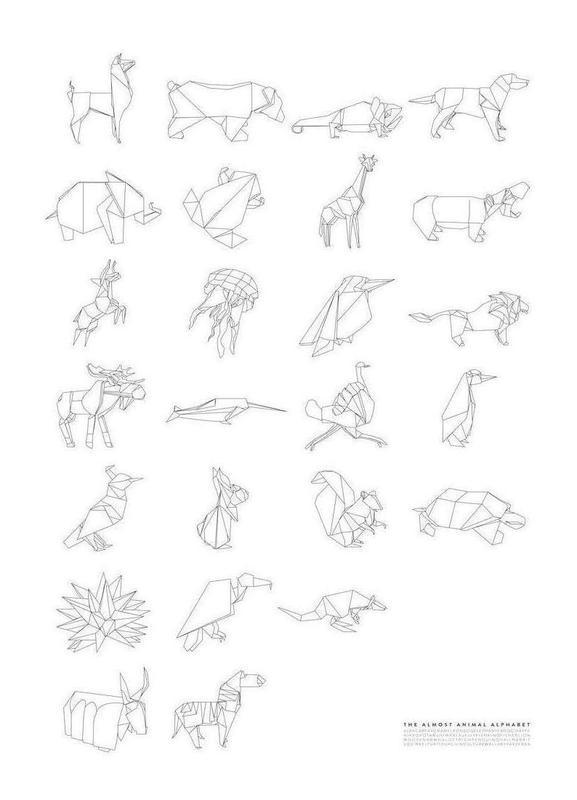 Almost Animal Alphabet -Leinwandbild