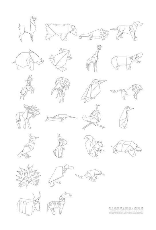 Almost Animal Alphabet -Acrylglasbild