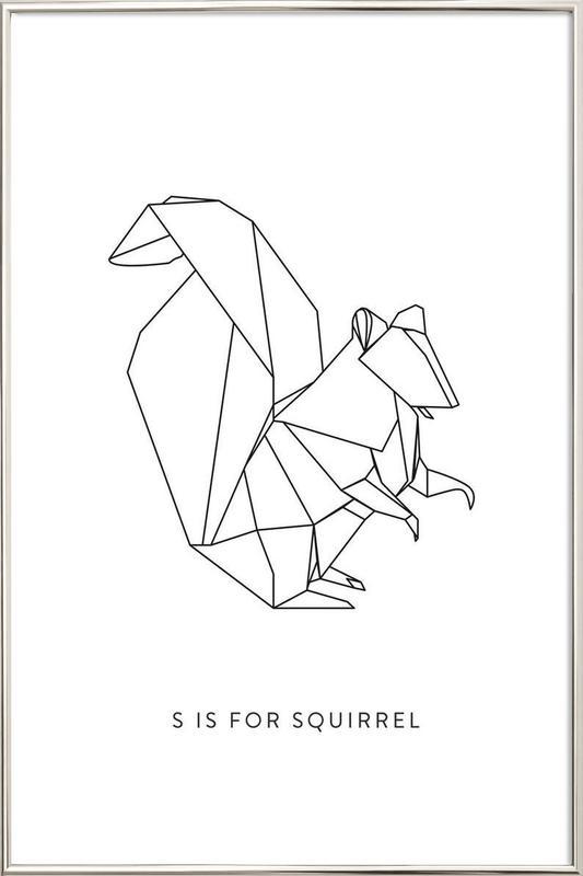 S Poster in Aluminium Frame