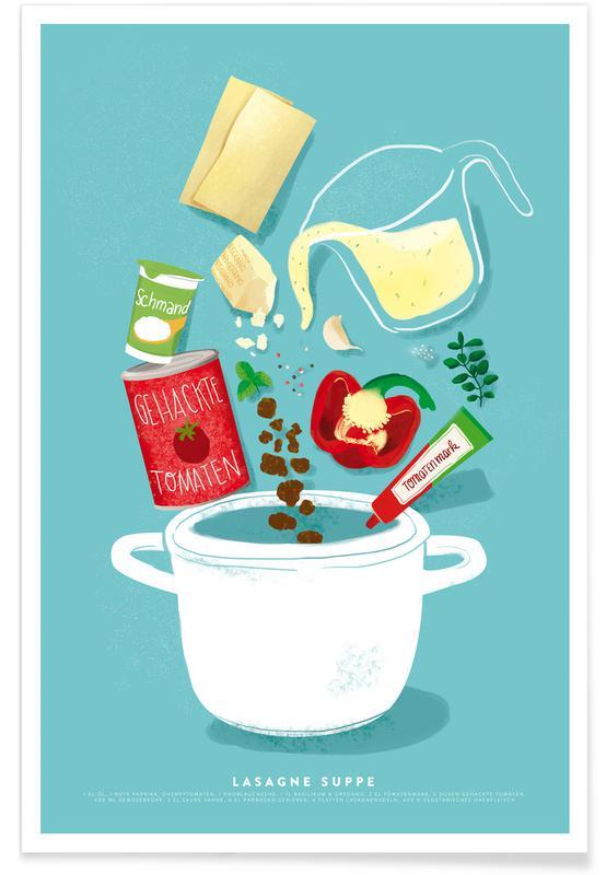 Lasagne Supper Poster