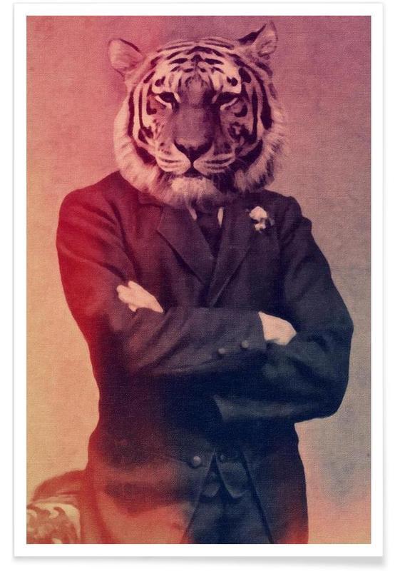 Old Timey Tiger poster