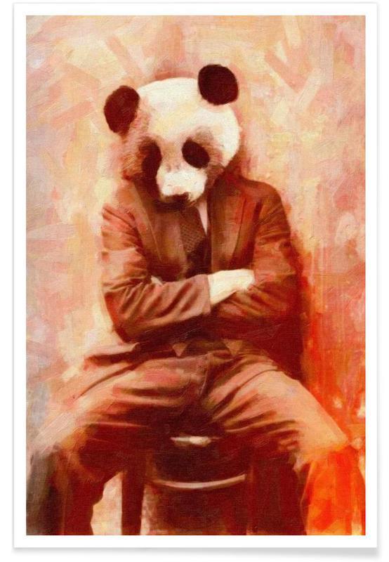Sad Panda -Poster