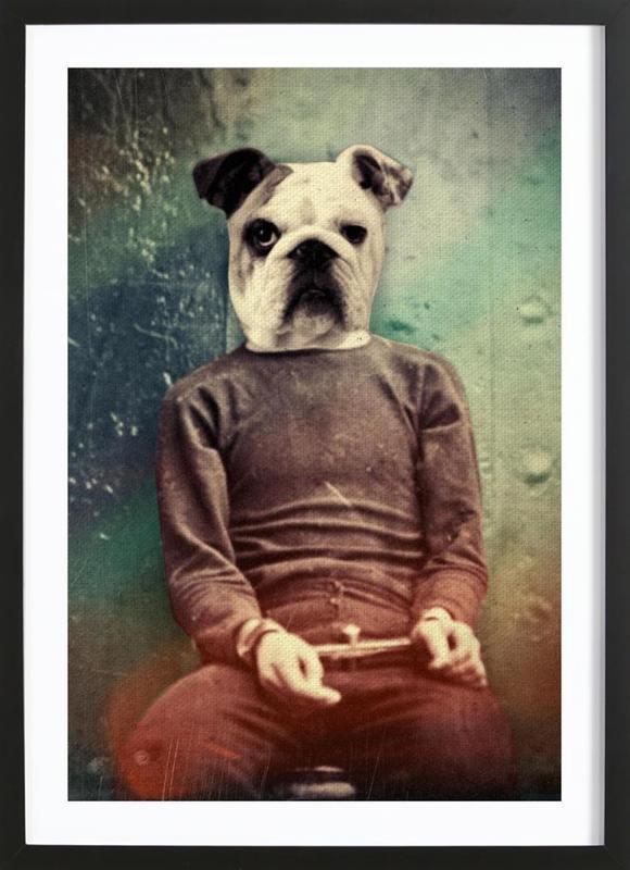Bad Dog affiche sous cadre en bois