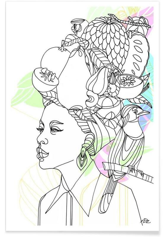Fruit Hat - Queens & Dandies Poster