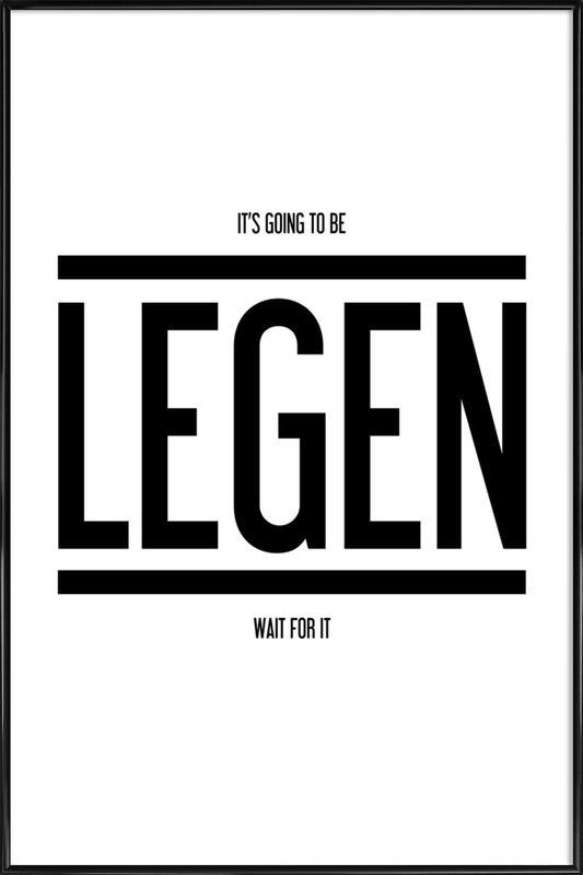 Legendary 1 affiche encadrée