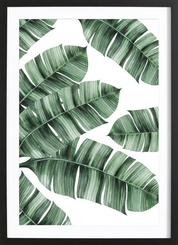 Tropical No. 8 affiche sous cadre en bois