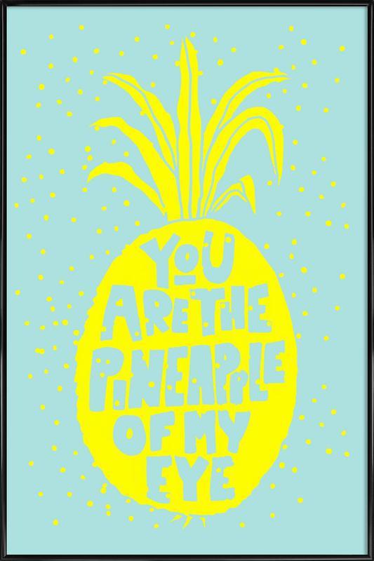 Ananas No.2 ingelijste poster
