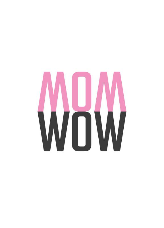 Mom Wow canvas doek