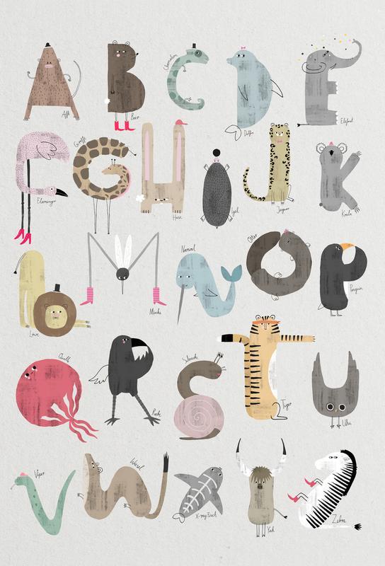 ABC Kids Akrylglastavla