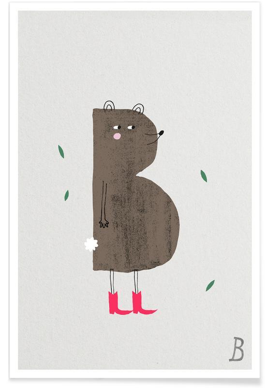 Tier-Alphabet B -Poster