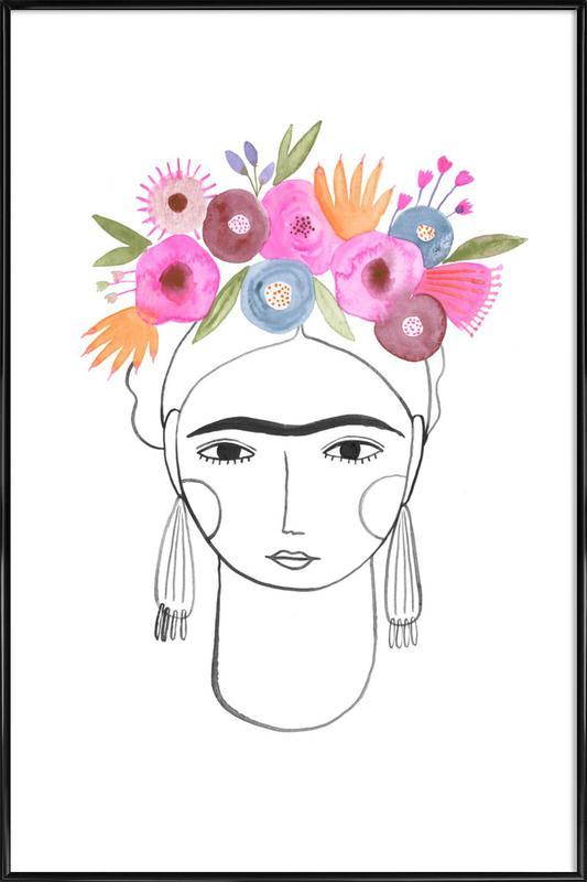 Beautiful Frida -Bild mit Kunststoffrahmen