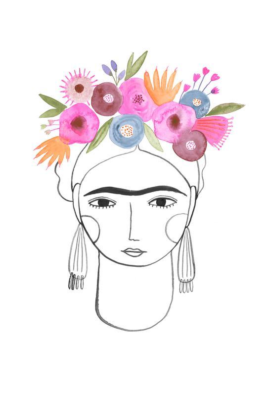 Beautiful Frida -Acrylglasbild