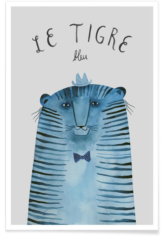 French Animals Tigre Poster
