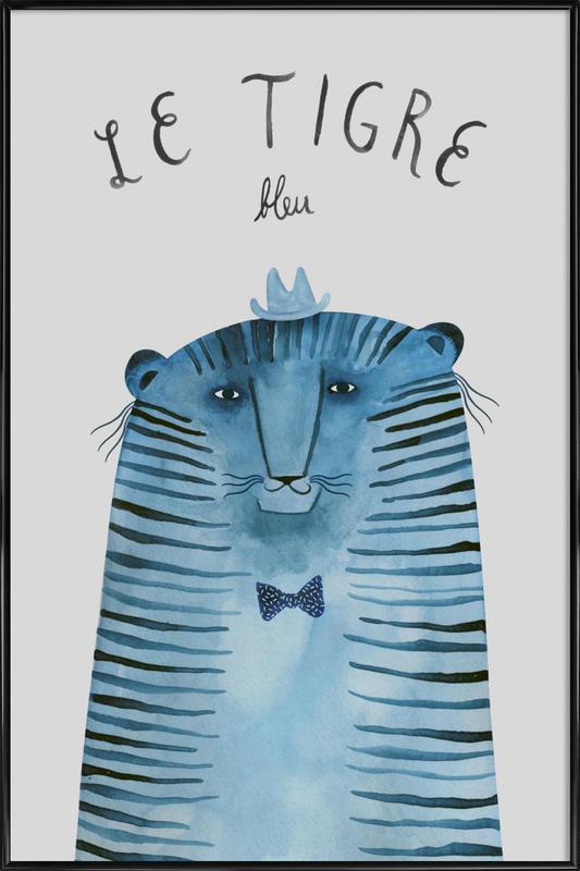 French Animals Tigre -Bild mit Kunststoffrahmen