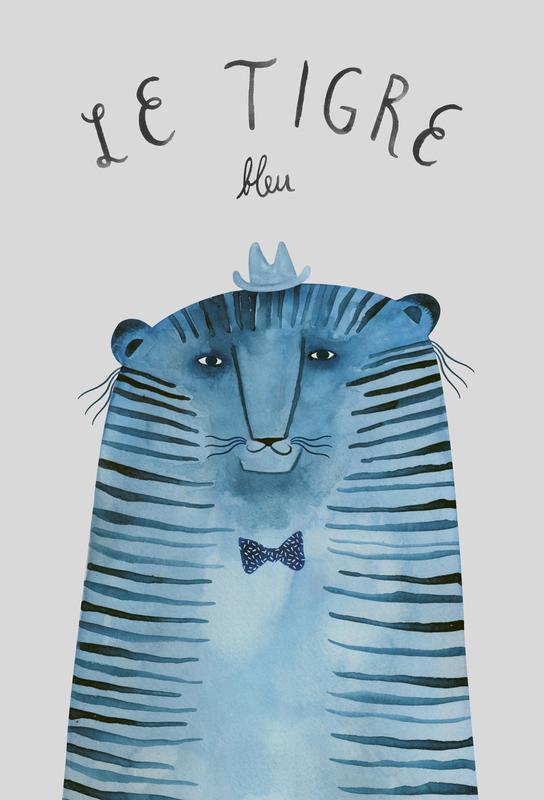 French Animals Tigre alu dibond