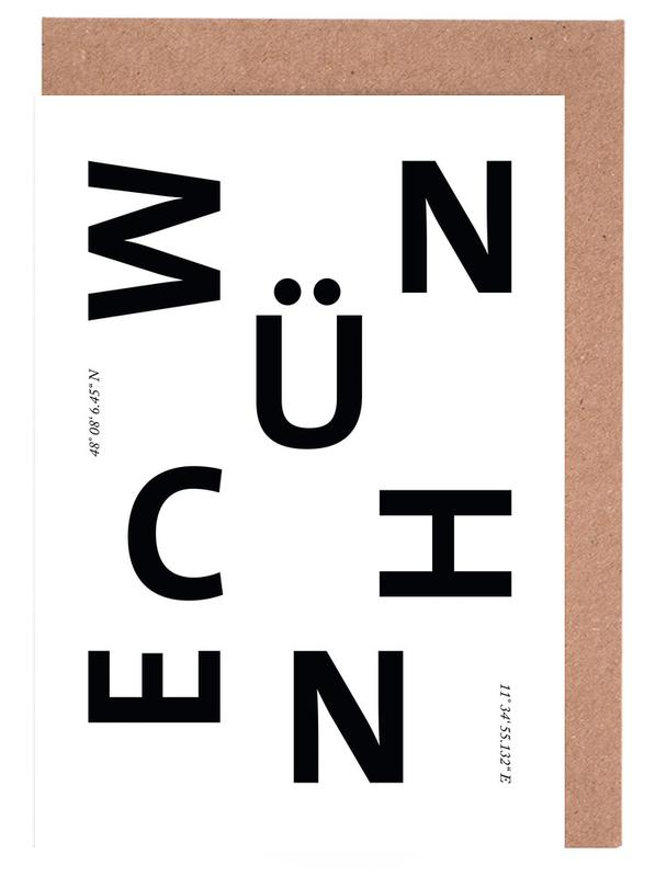Cities - München Greeting Card Set