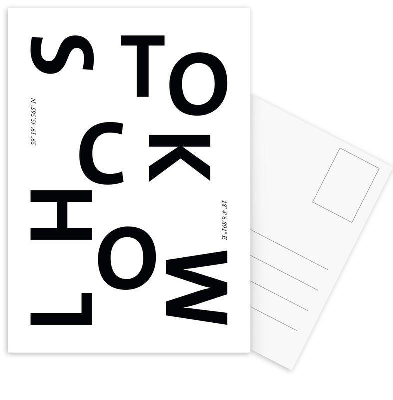 Cities - Stockholm -Postkartenset