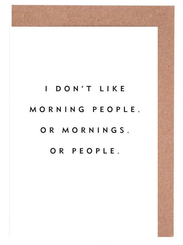 Morning People cartes de vœux