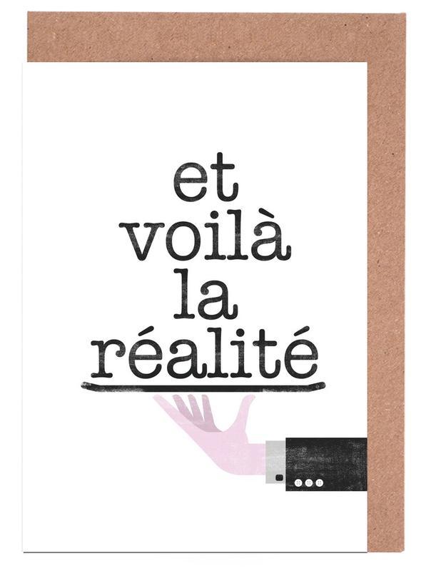 Réalité -Grußkarten-Set