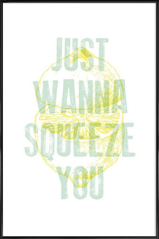 Squeeze -Bild mit Kunststoffrahmen