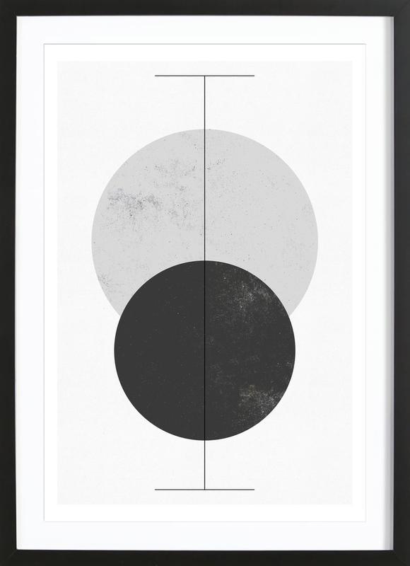 Geometry affiche sous cadre en bois